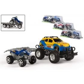 Car with carriage for quad