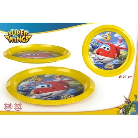 Super Wings plastic plate