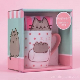 Pusheen sock in a mug – marshmallow