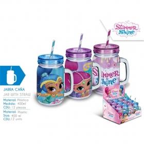 Shimmer and Shine mug with straw - random style