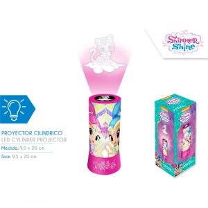 Shimmer and Shine lamp with LED projector