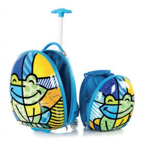 Travel Tots Frog - Kids Luggage & Backpack Set