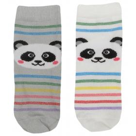 Panda baby socks