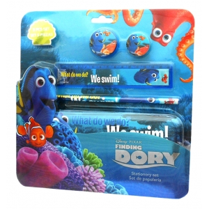 Finding Dory pencil case with equipment