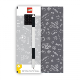 Lego notebook and gel pen