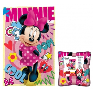 Minnie Mouse coral blanket