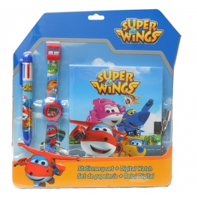 Superwings gift set: diary+wristwatch+color pen