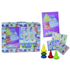PJ Masks art set in metal case