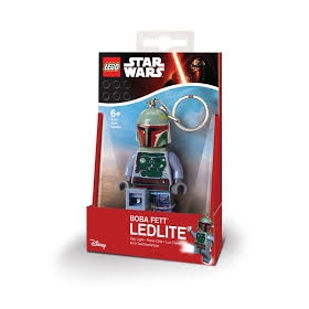 Lego Star Wars keychain with LED torch – Boba Fett