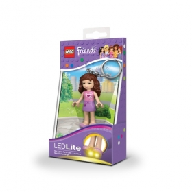 Lego Friends keychain with LED torch