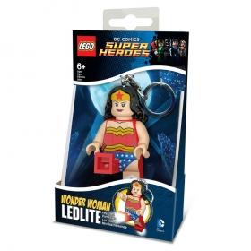 Lego Super Heros Wonder Woman keychain with LED torch
