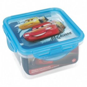 Recipiente Cuadrado 730 Ml. Cars Race Ready