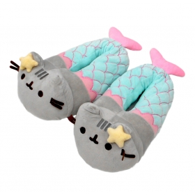 Pusheen™ Mermaid Plush slippers