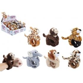 15 cm Hugglers Bracelet Plush 24pce Cdu 6 Asst Zoo Mix