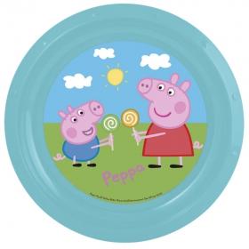 Pea Pig plastic plate