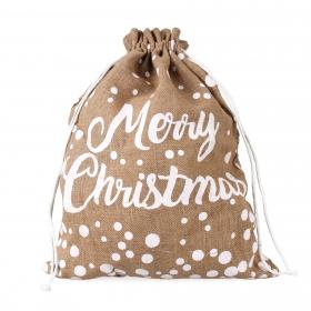 """Tin Tours Christmas jute bag """"merry christmas"""" 60x45 cm"""