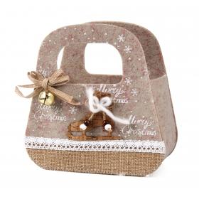 Christmas felt bag 19x9x12 / 19 cm