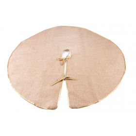 Jute dress for a Christmas tree natural 90 cm