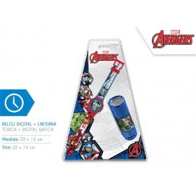 Analog watch + Avengers flashlight