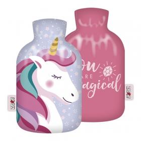 Zaska Unicorn hot water bottle in cover