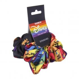 Disney Rainbow Hair accessories scrunchies 2 pack